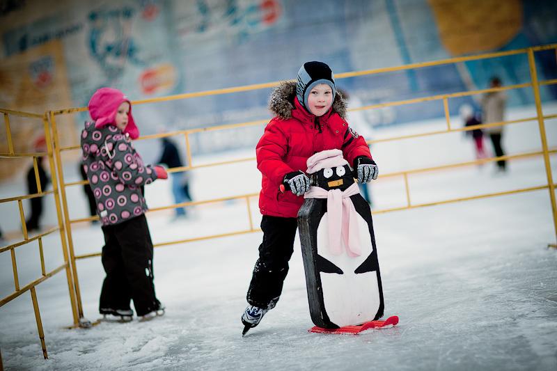 пингвины для обучения детей кататься на коньках