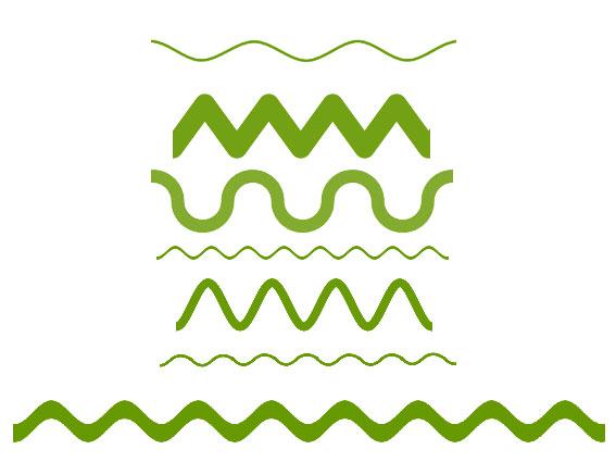 Как сделать волнистую линию в фотошопе